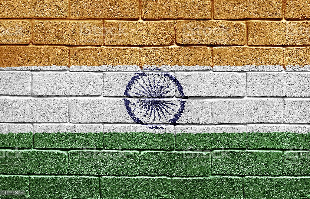 Flag of India royalty-free stock photo