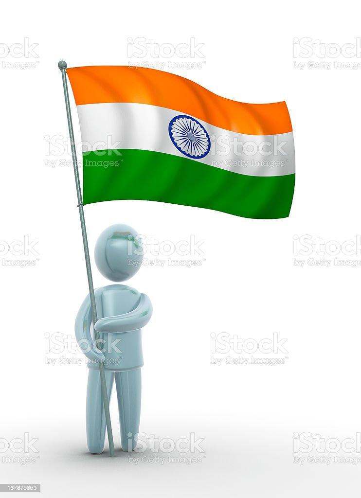 Flag of india royalty-free stock photo