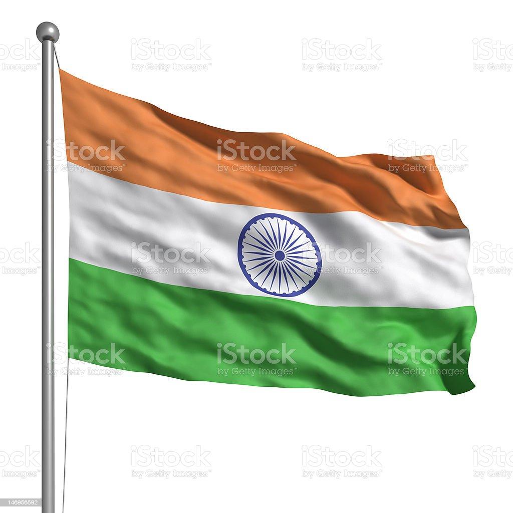 Flag of India (Isolated) royalty-free stock photo