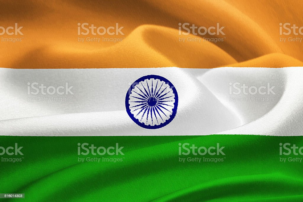 Flag of India stock photo