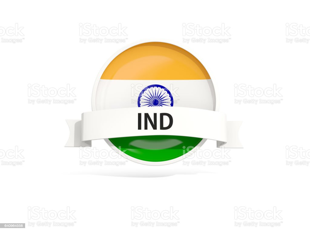Flag of india with banner stock photo