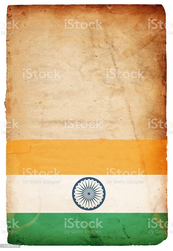 Flag of India XXXL royalty-free stock photo