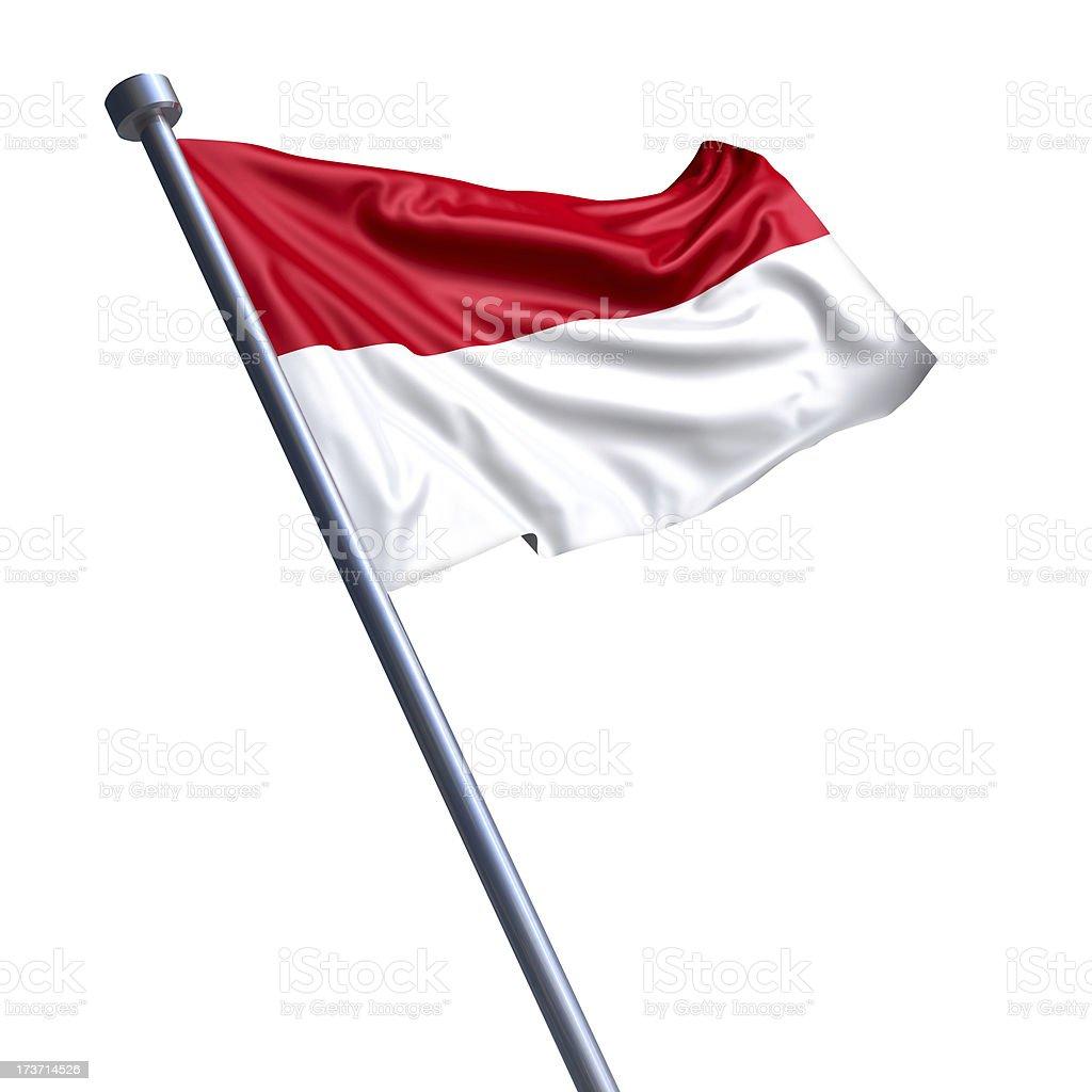 Flag of Indonesia isolated on white stock photo