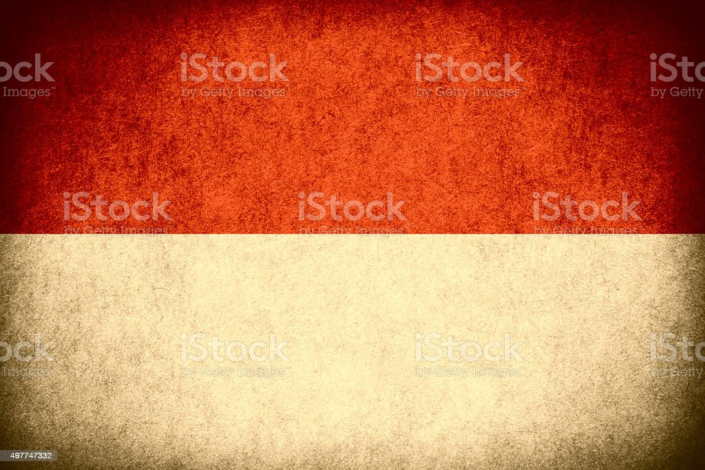 flag of Indonesia stock photo