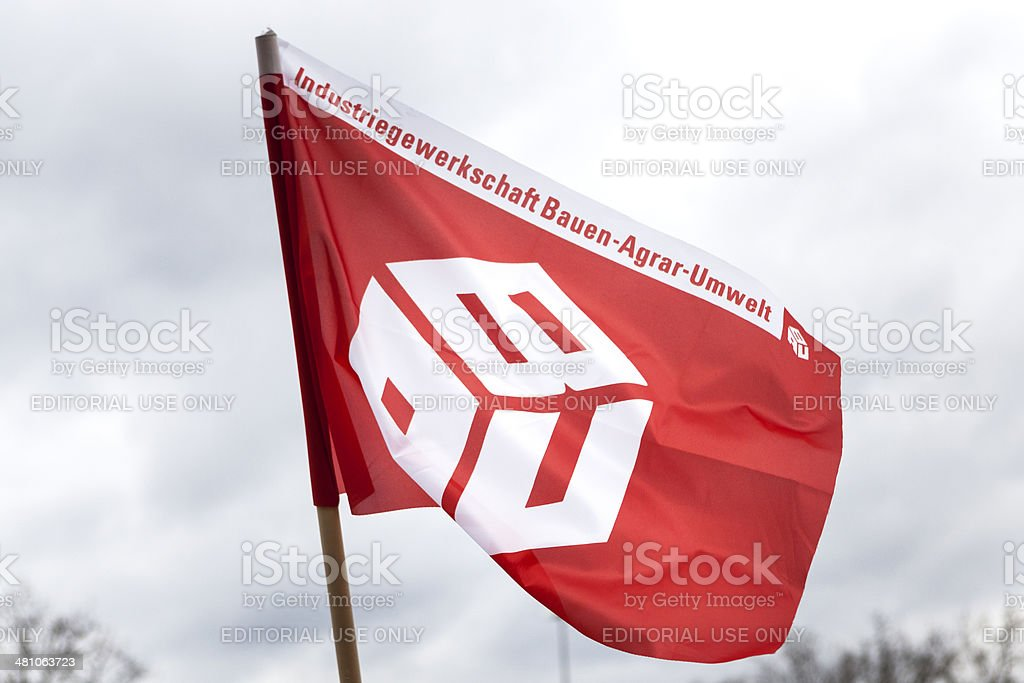 Flag of Industriegewerkschaft Bauen-Agrar-Umwelt (IG Bau) stock photo