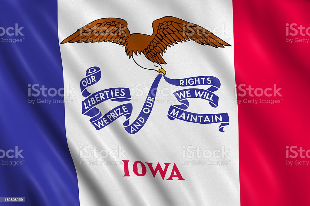flag of iowa royalty-free stock photo