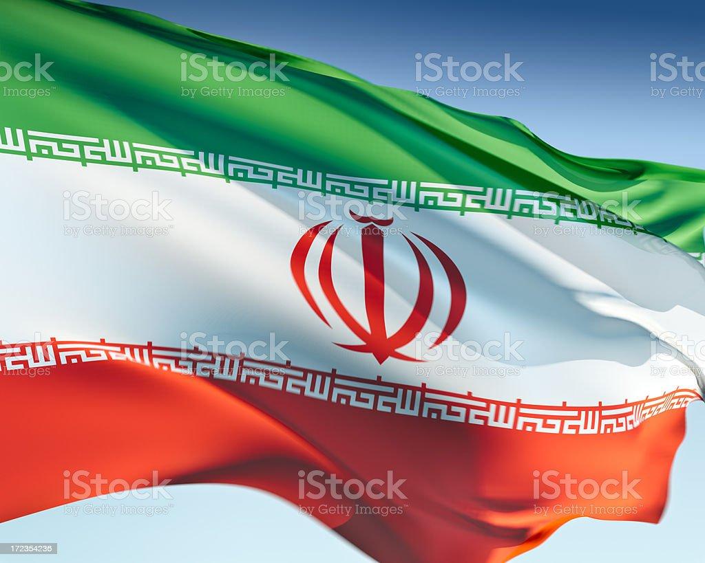 Flag of Iran stock photo