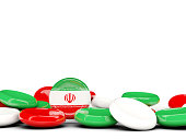 Flag of iran, round buttons