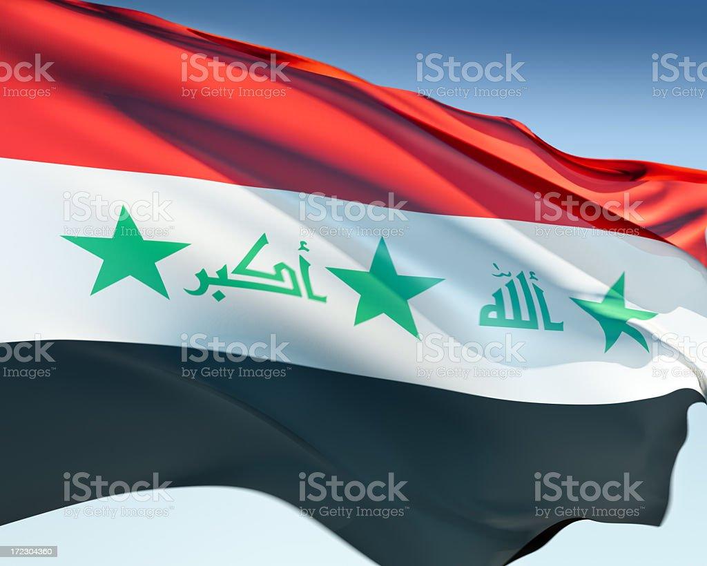 Flag of Iraq stock photo
