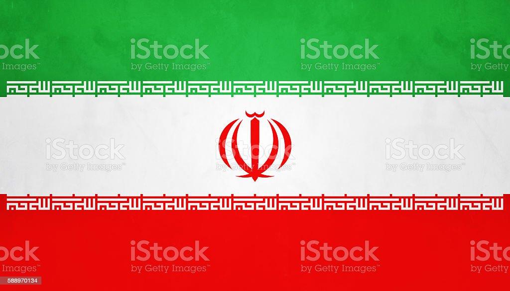 Flag Of Islamic Republic Of Iran stock photo