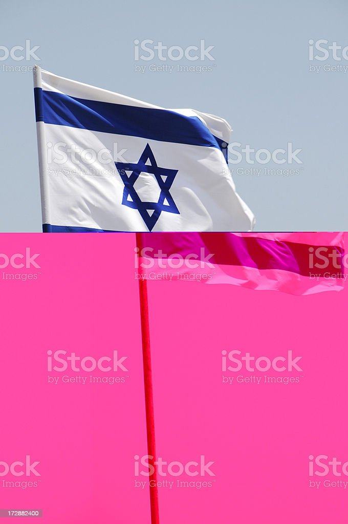 Flag of Israel royalty-free stock photo