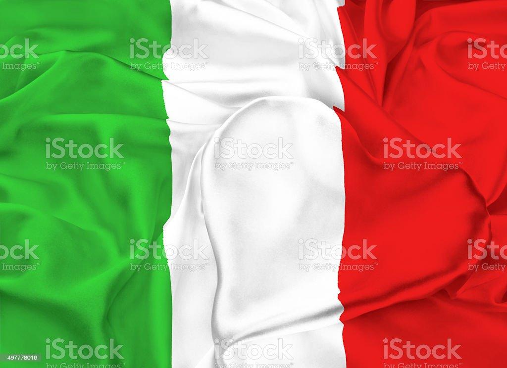 Flag of Italy, Milan stock photo