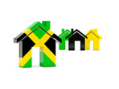 Flag of jamaica, home icon