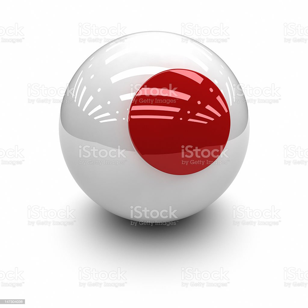 3D  - Flag of Japan royalty-free stock photo