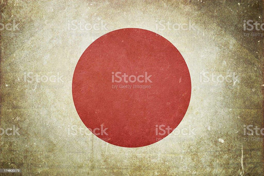 Flag of Japan royalty-free stock photo