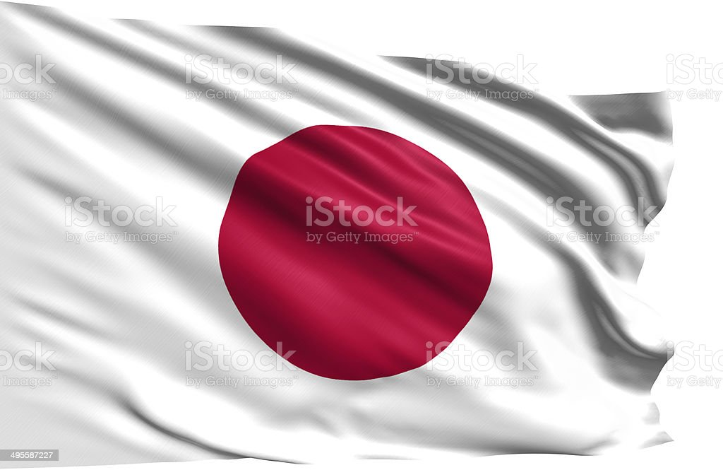 flag of Japan stock photo
