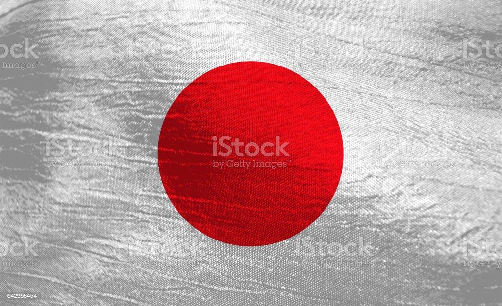 Flag of Japan stock photo