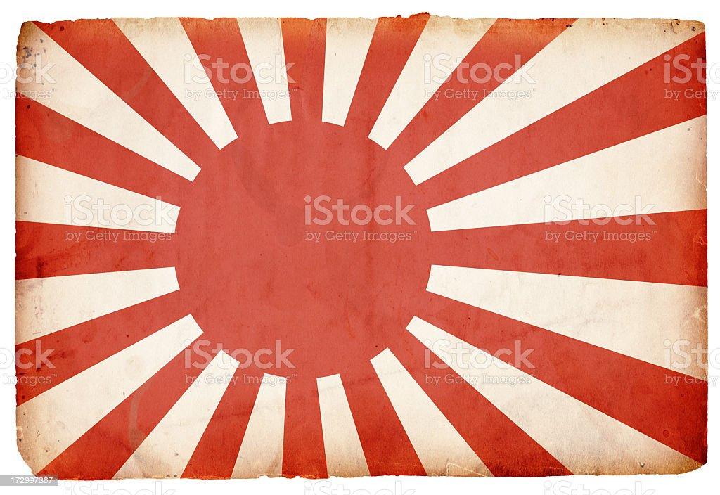 WWII Flag of Japan XXXL royalty-free stock photo