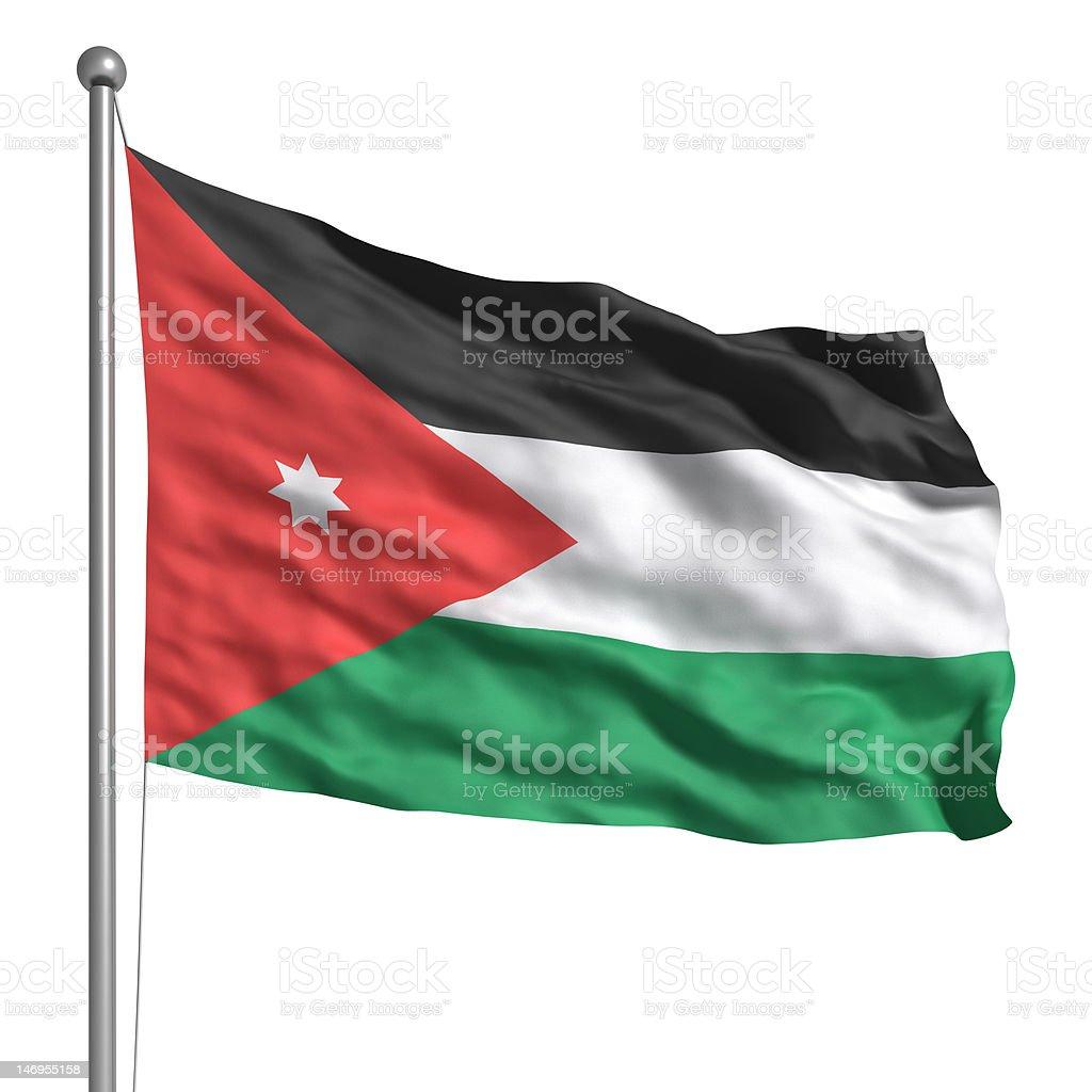 Flag of Jordan (Isolated) stock photo