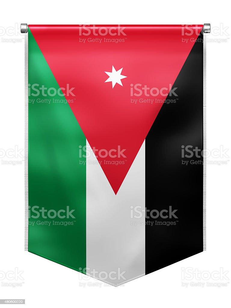 Flag of Jordan stock photo