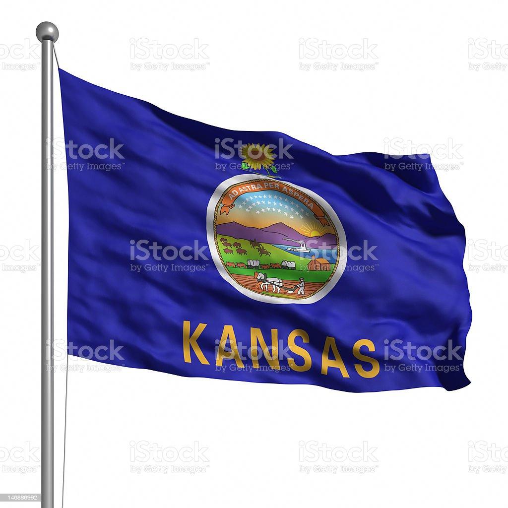 Flag of Kansas (isolated) stock photo