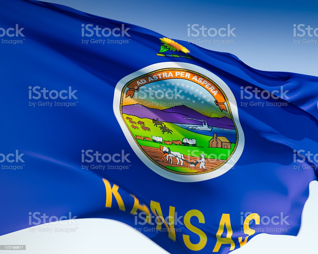 Flag of Kansas stock photo