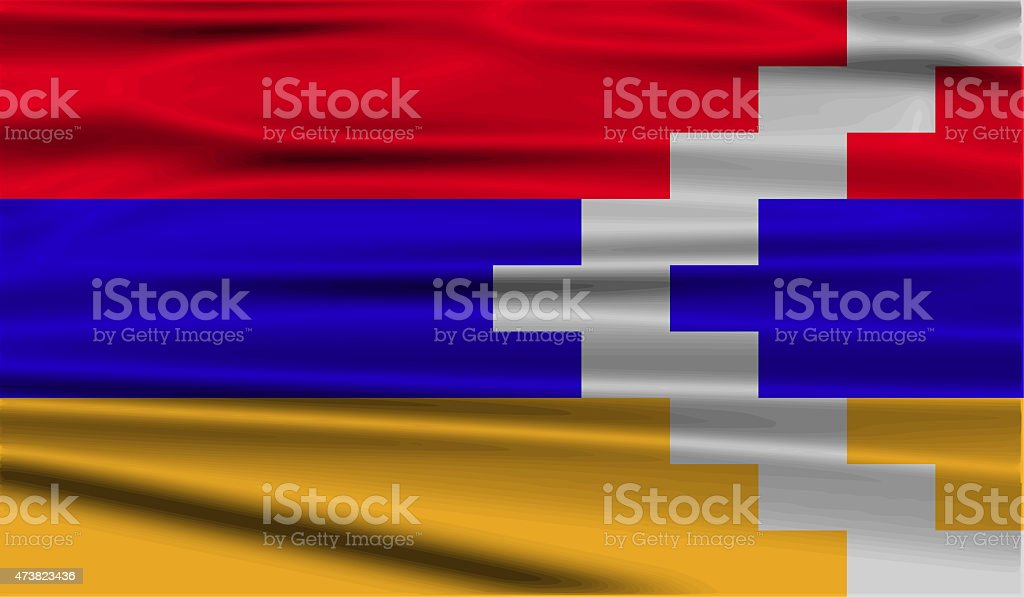 Flag of Karabakh Republic with old texture. stock photo