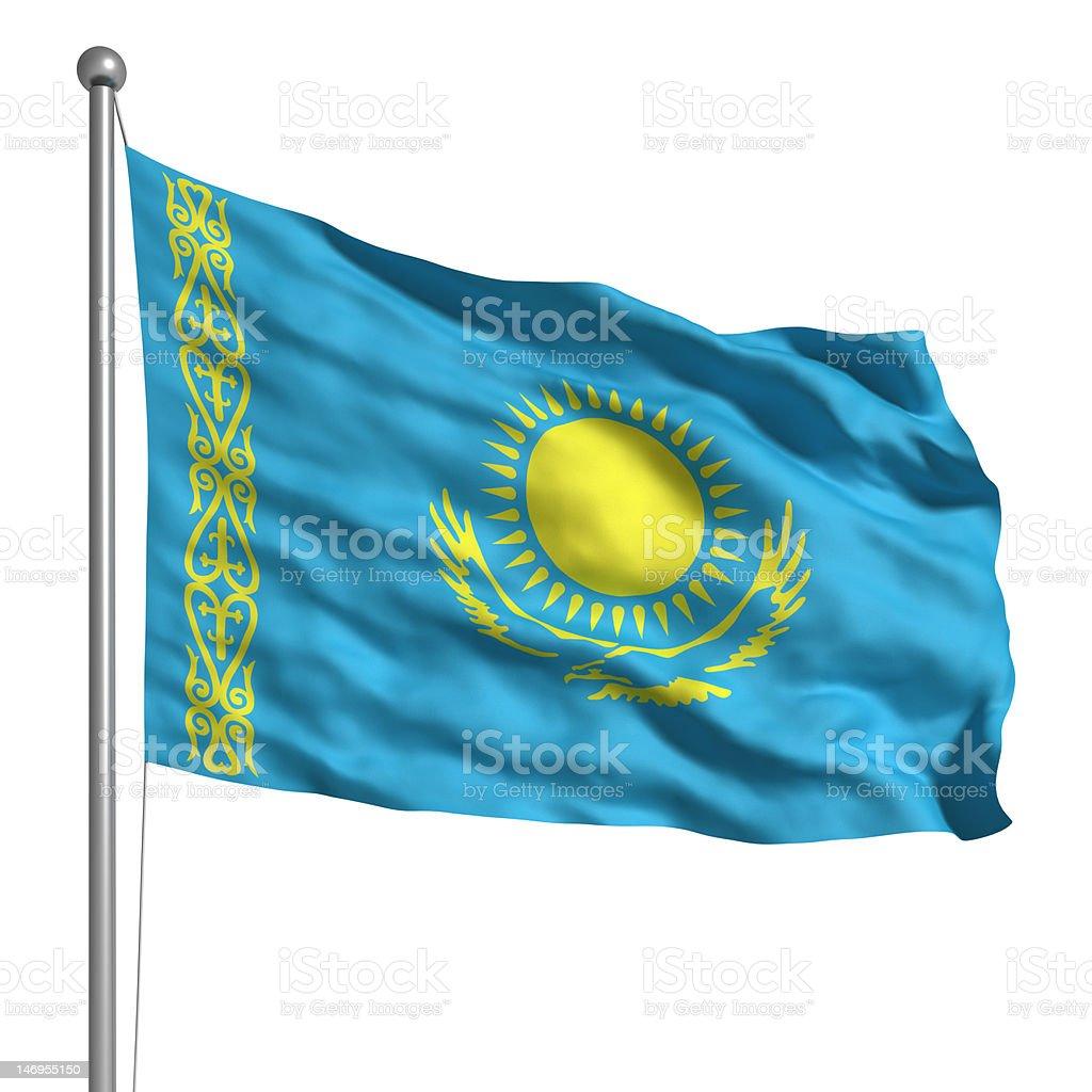 Flag of Kazakhstan (Isolated) royalty-free stock photo