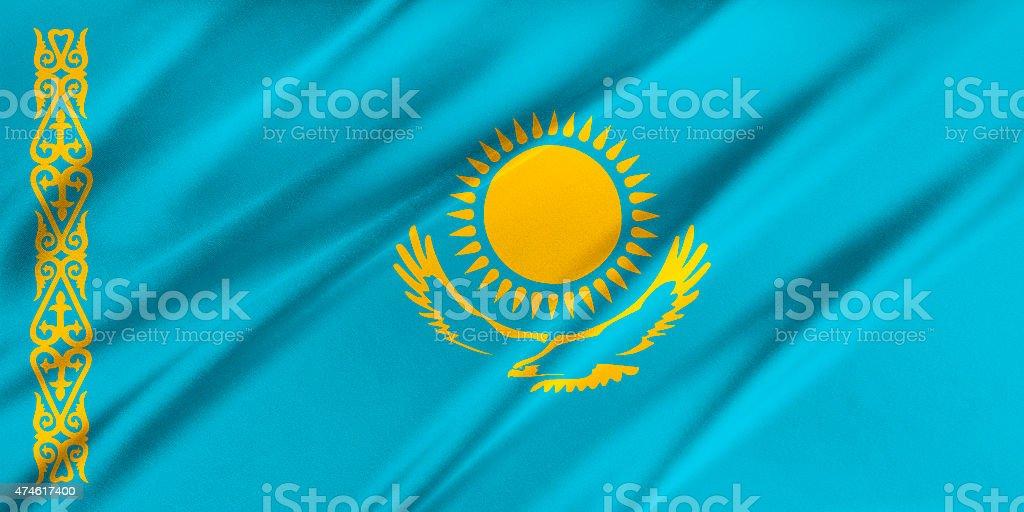 Flag of Kazakhstan stock photo