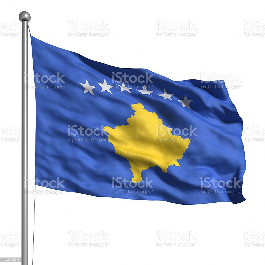 Flag of Kosovo (Isolated) stock photo