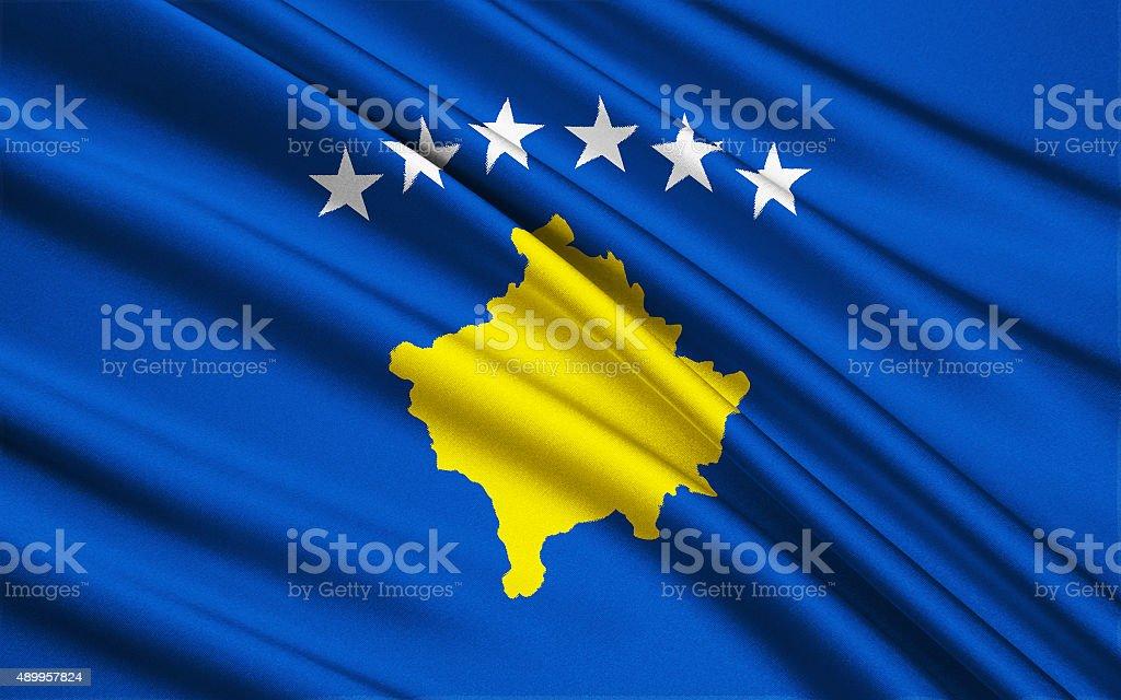 Flag of Kosovo stock photo