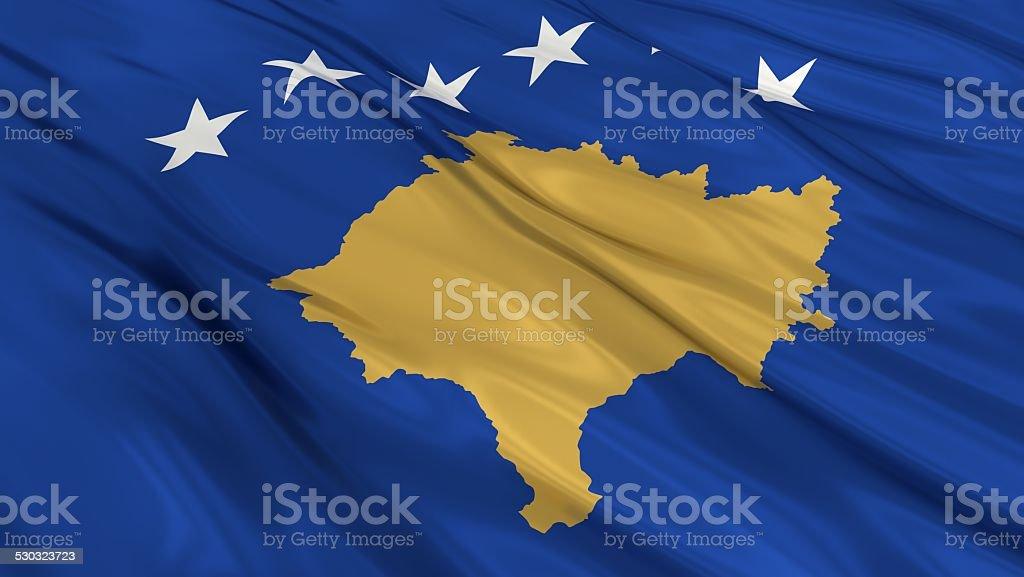 Flag of Kosovo. stock photo