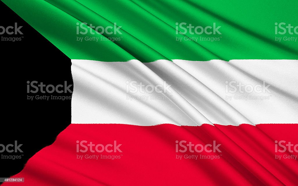Flag of Kuwait stock photo