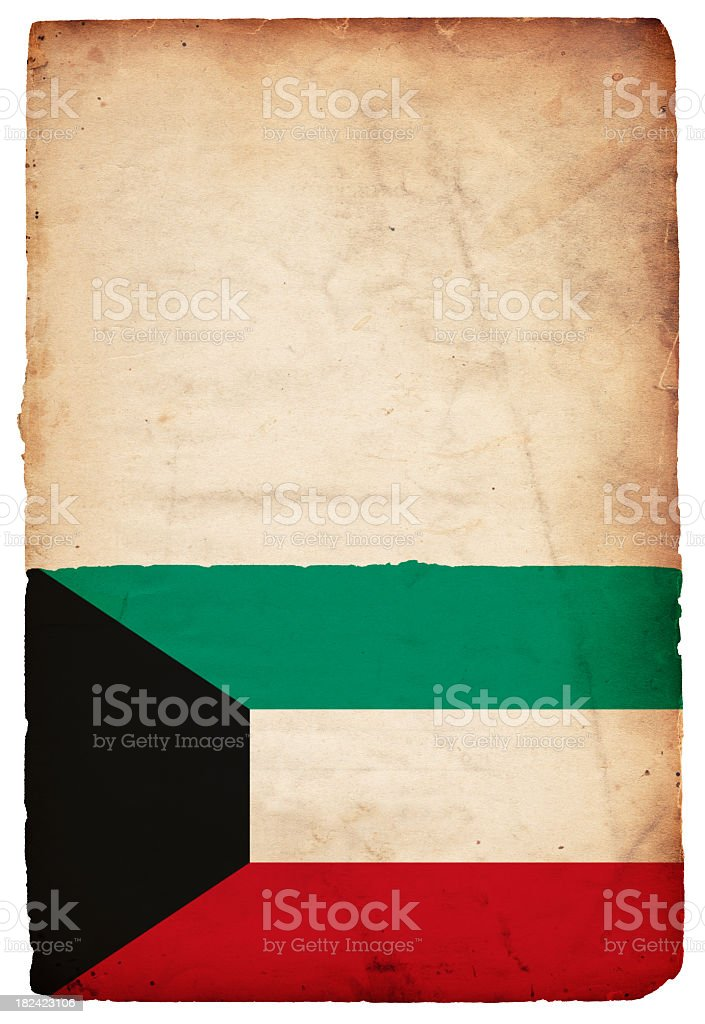 Flag of Kuwait - XXXL stock photo