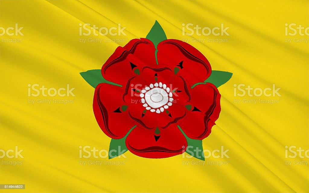 Flag of Lancashire county, England stock photo