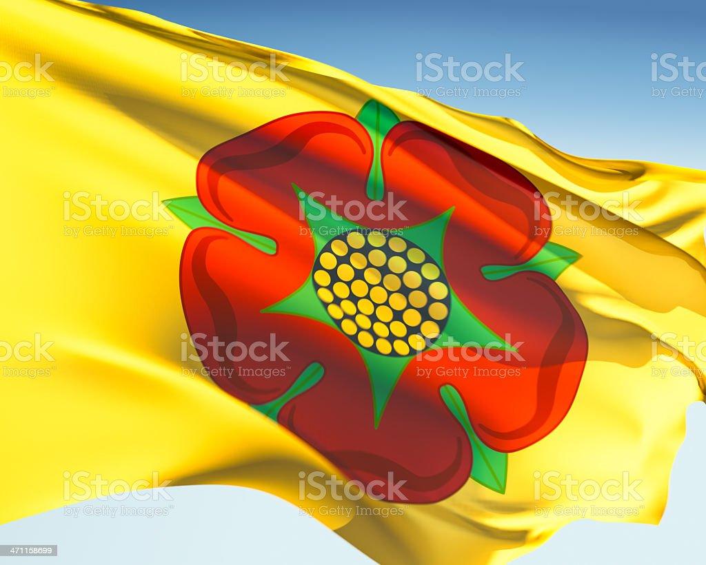 Flag of Lancashire stock photo