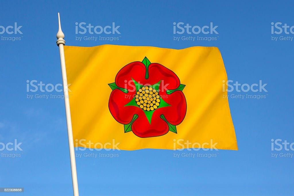 Flag of Lancashire - United Kingdom stock photo
