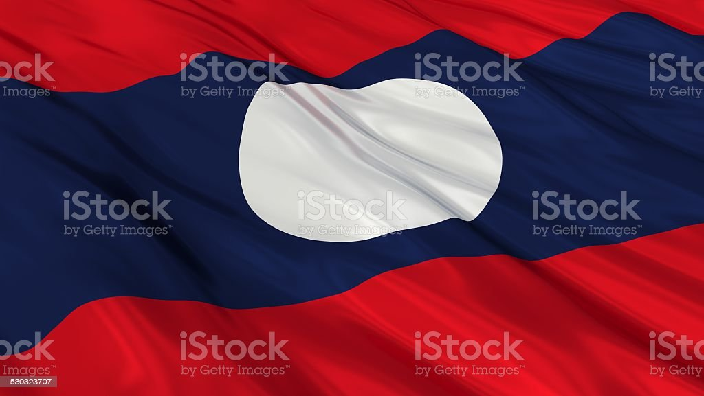 Flag of Laos. stock photo