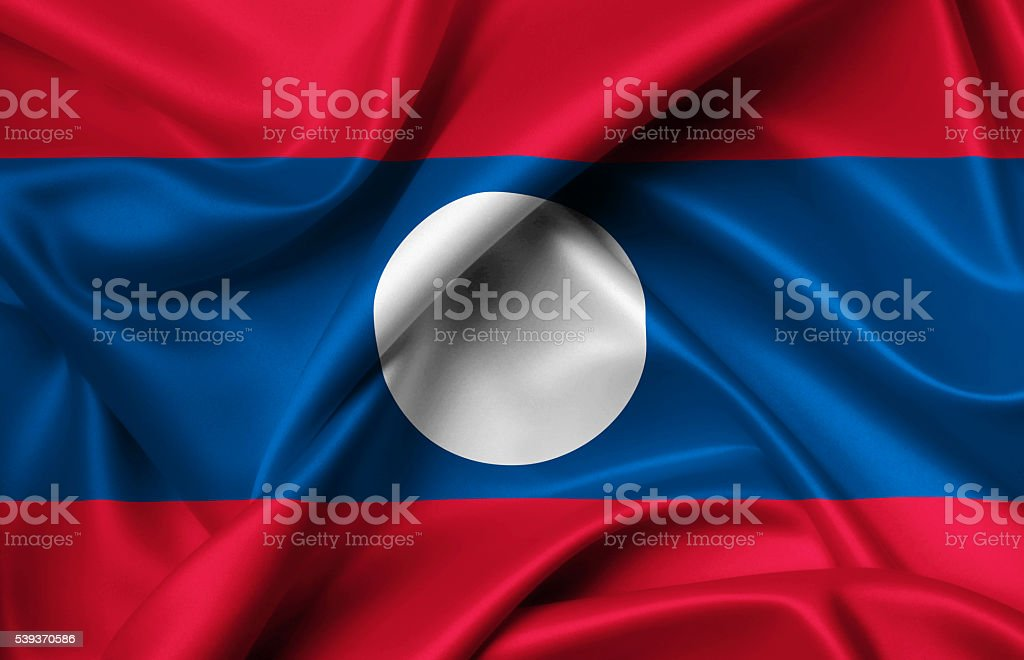 Flag of Laos stock photo
