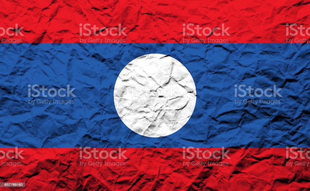 Flag of Laos stock photo