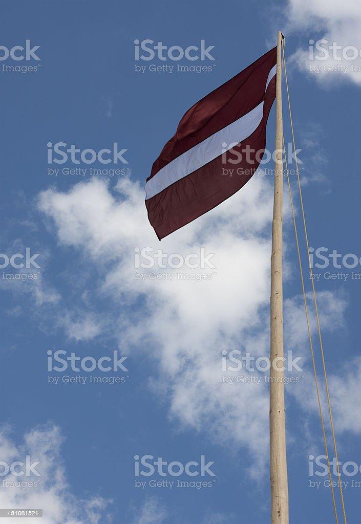 Flag of Latvia stock photo