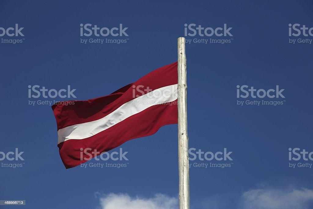 Flag of Latvian republic stock photo