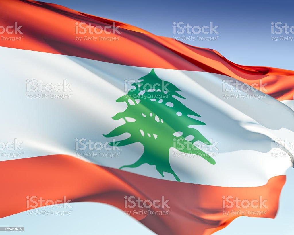 Flag of Lebanon stock photo