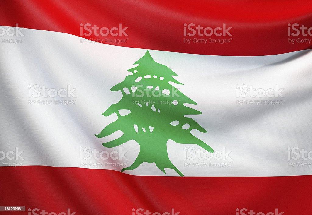 Flag of Lebanon royalty-free stock photo