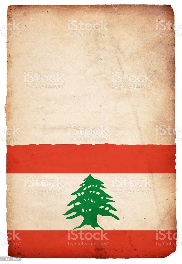 Flag of Lebanon - XXXL royalty-free stock photo
