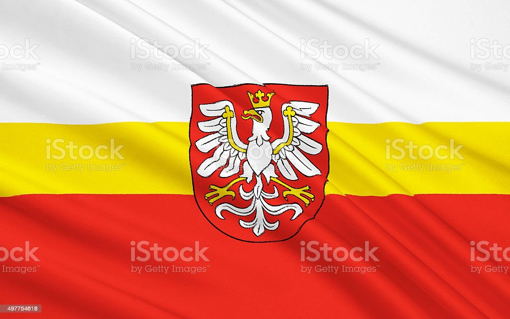 Flag of Lesser Poland Voivodeship in southern Poland vector art illustration