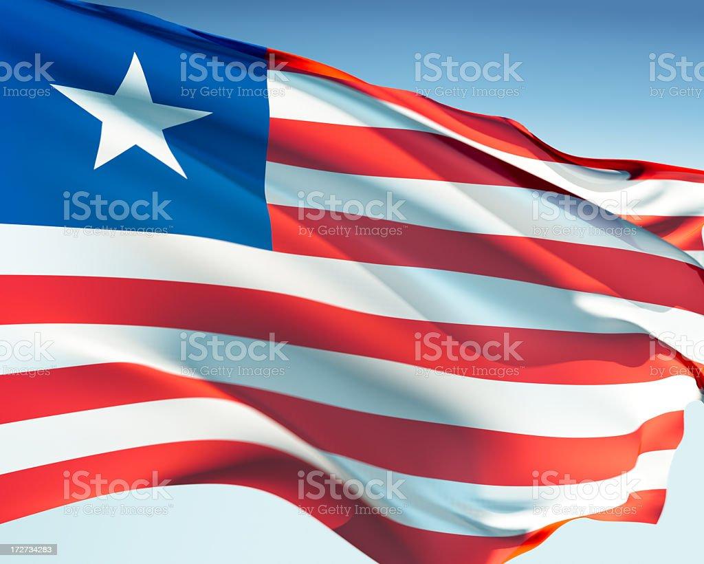 Flag of Liberia royalty-free stock photo