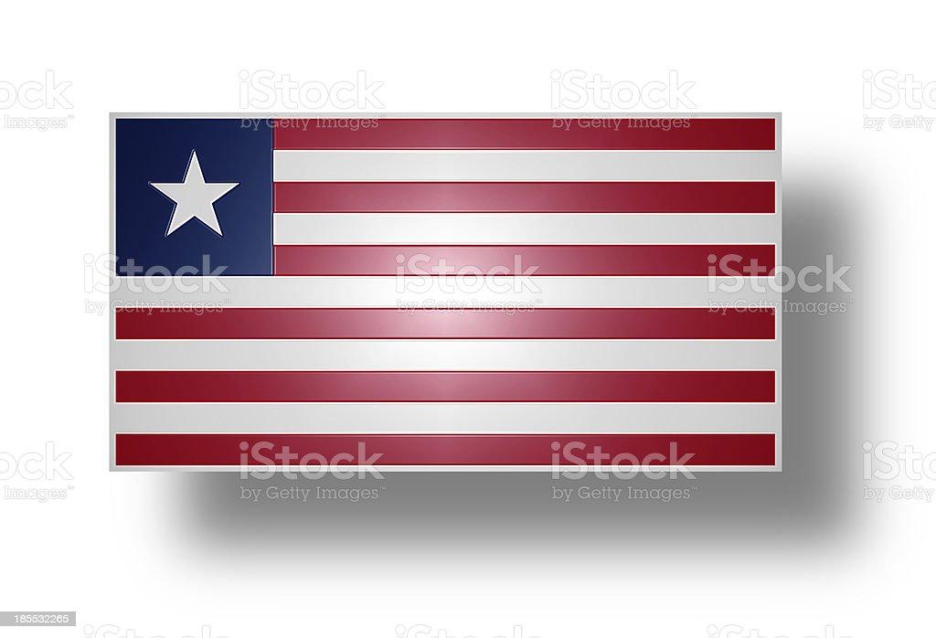 Flag of Liberia (stylized I). royalty-free stock photo