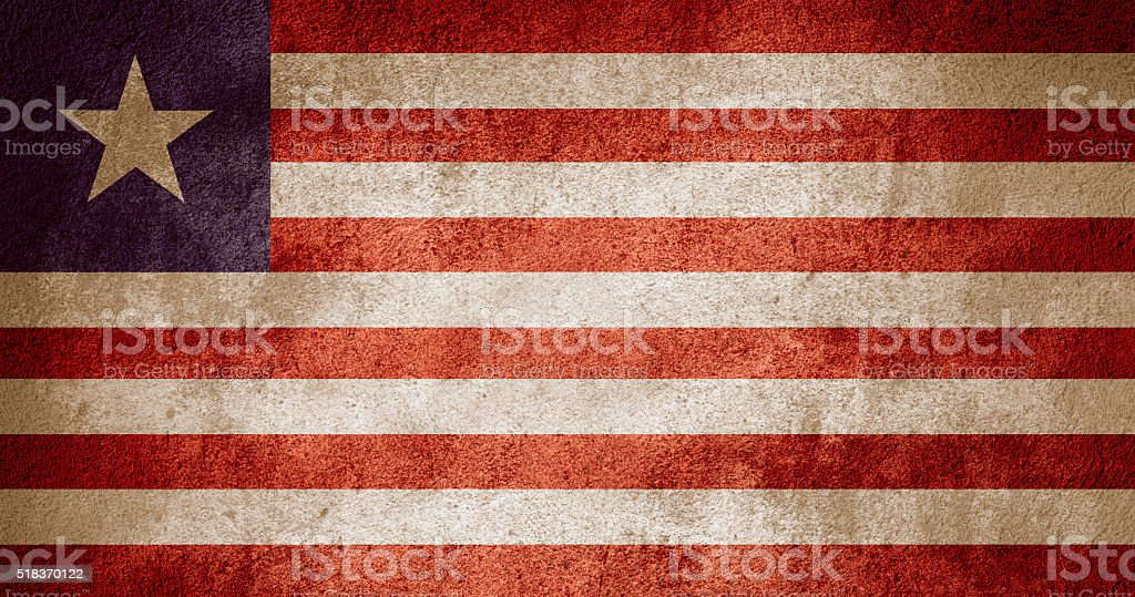 flag of Liberia stock photo