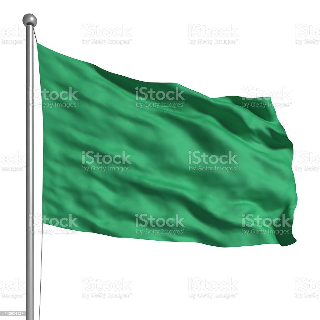 Flag of Libya (Isolated) royalty-free stock photo